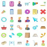 Business icons set, cartoon style. Business icons set. Cartoon style of 36 business vector icons for web isolated on white background Royalty Free Stock Photos