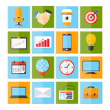 Business Icons Set Royalty Free Stock Photography