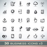 30 business icons set. Collection of vector symbols Royalty Free Stock Photography