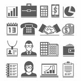 Business Icons. 17 business icons set, collection of vector symbols Royalty Free Illustration