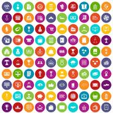 100 business icons set color. 100 business icons set in different colors circle isolated vector illustration royalty free illustration