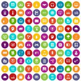 100 IT business icons set color. 100 IT business icons set in different colors circle isolated vector illustration vector illustration