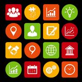 Business Icons Set and Design Elements Stock Photo
