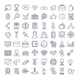 Business icons set. Different  symbols and signs on white background Stock Photos