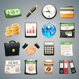 Business Icons Set1.1 Royalty Free Stock Photo