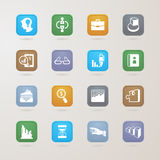 Business icons set. EPS10, This illustration contains transparency Stock Image