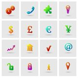 Business icons set. For finance marketing  vector illustration Royalty Free Stock Photo