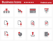 Business icons set - Firebrick Series Stock Photos