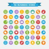 Business icons set. Set of flat design business concept icons Royalty Free Stock Image