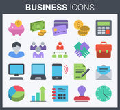 Business icons. Royalty Free Stock Photos
