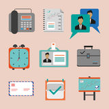 Business icons set, flat style. Digital vector image Royalty Free Stock Photo