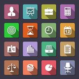 Business icons set. Business Icons. Flaticons series. Metro style vector icons Royalty Free Stock Photo