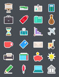 Business   icons set. Set of 24 business i  icons Royalty Free Stock Image