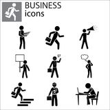 Business Icons set royalty free illustration