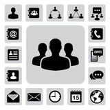 Business icons set. Illustration Royalty Free Stock Photography