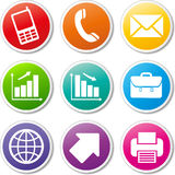 Business icons set Royalty Free Stock Images