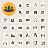 Business icons set. Illustration Royalty Free Stock Photo