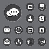 Business icons set. Illustration Royalty Free Stock Images