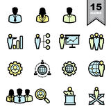 Business icons set Stock Images