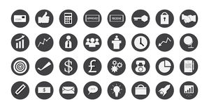 Business icons set. illustration eps 10 Stock Photo
