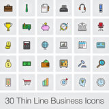 Business icons set. Illustration  on white background for graphic and web design. Stock Images