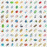 100 business icons set, isometric 3d style Royalty Free Stock Photography