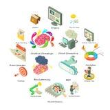 Business icons set, isometric style Stock Image