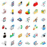 It business icons set, isometric style. It business icons set. Isometric style of 36 it business vector icons for web isolated on white background Stock Photography