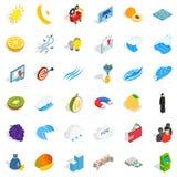 Business icons set, isometric style. Business icons set. Isometric style of 36 business vector icons for web isolated on white background Stock Photography