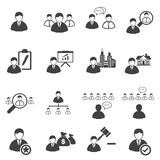 Business icons set, Leadership. Vector icons Stock Image