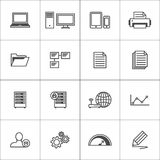 Business icons set. Royalty Free Stock Images
