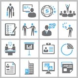 Business icons. Set of 16 business icons and management icons Stock Images