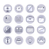 Business Icons Set. With management company organization project maintenance symbols isolated vector illustration Stock Image
