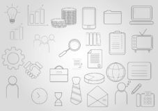 Business icons set. Icons for business, management, finance, strategy, marketing royalty free illustration
