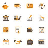Business icons. Set o 16 vector icons for business and office Stock Photography