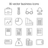 Business icons set. Office and document symbols. Vector Royalty Free Stock Images