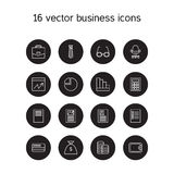 Business icons set. Office and document symbols. Vector Royalty Free Stock Photo