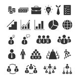 Business icons set. Office, finance, business, management, human resource Stock Photos