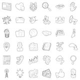 Business icons set, outline style. Business icons set. Outline style of 36 business vector icons for web isolated on white background Royalty Free Stock Image