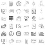 Business icons set, outline style. Business icons set. Outline style of 36 business vector icons for web isolated on white background Stock Images
