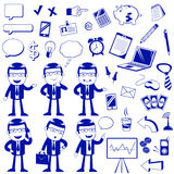 Business icons. Set of icons related to business and finance Royalty Free Stock Photo