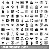 100 IT business icons set, simple style. 100 IT business icons set in simple style for any design vector illustration royalty free illustration