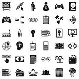 It business icons set, simple style. It business icons set. Simple style of 36 it business vector icons for web isolated on white background Stock Images