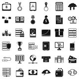 Business icons set, simple style. Business icons set. Simple style of 36 business vector icons for web isolated on white background Stock Image