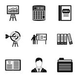 Business icons set, simple style Stock Photo