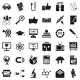 Business icons set, simple style. Business icons set. Simple style of 36 business vector icons for web  on white background Royalty Free Stock Photos