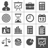 Business icons set - Simplus series Stock Image