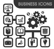 Business icons set. And symbols for web user interface Royalty Free Stock Image