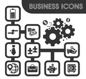 Business icons set. And symbols for web user interface Stock Images