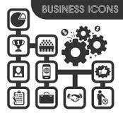Business icons set stock illustration